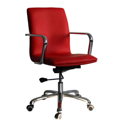 Fine Mod Imports FMI10170-red Confreto Conference Office Chair Mid Back, Red - Peazz.com - 1