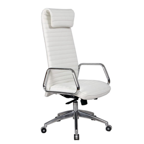 Fine Mod Imports FMI10178-white Ox Office Chair High Back, White - Peazz.com - 1