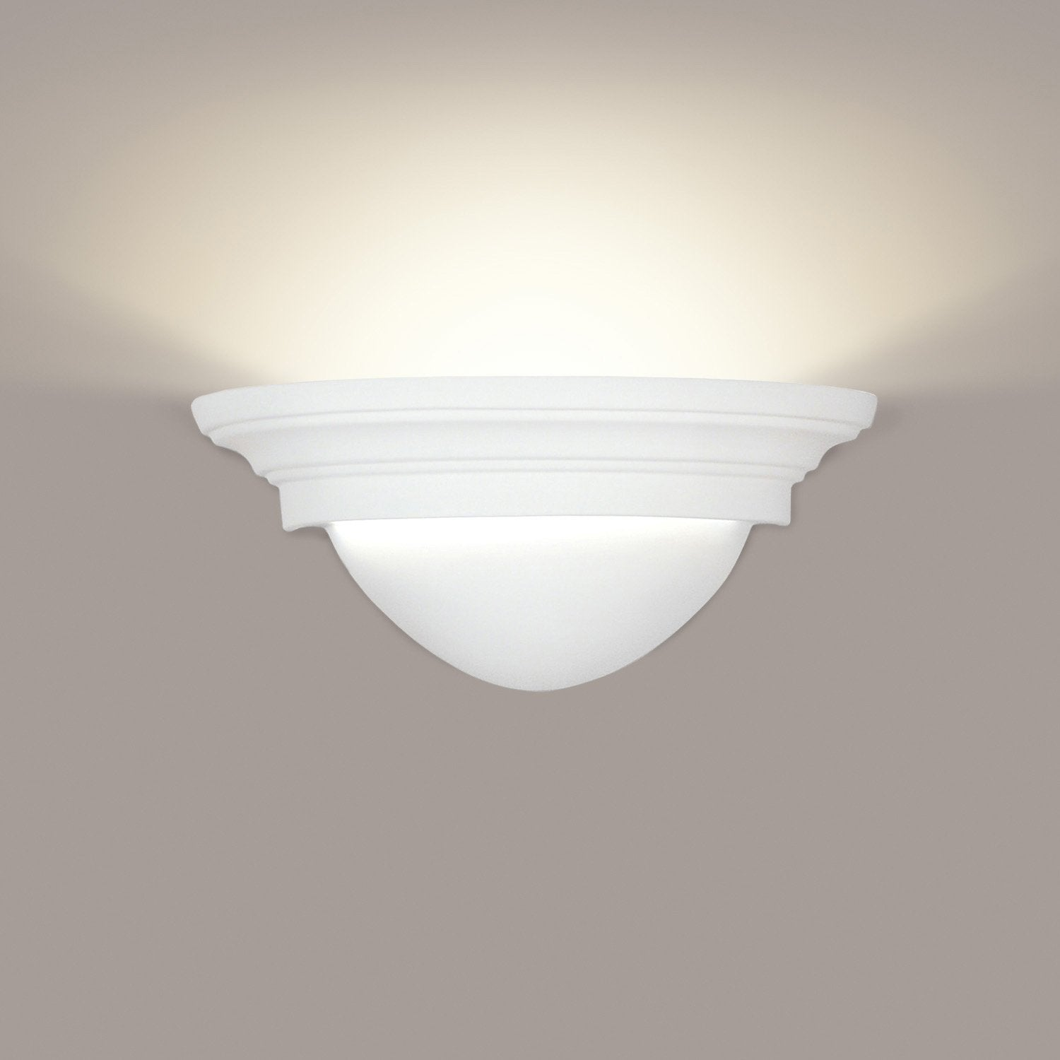 A19 101-WG Islands of Light Collection Minorca/Majorca White Gloss Finish Wall Sconce
