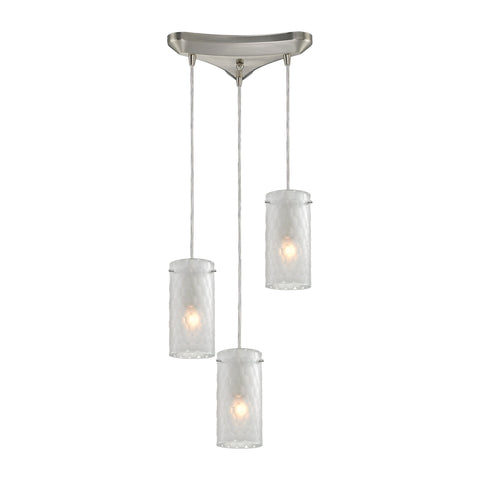 ELK Lighting 10243/3FC Synthesis Collection Satin Nickel Finish - PeazzLighting