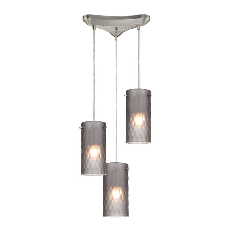 ELK Lighting 10243/3FSM Synthesis Collection Satin Nickel Finish - PeazzLighting