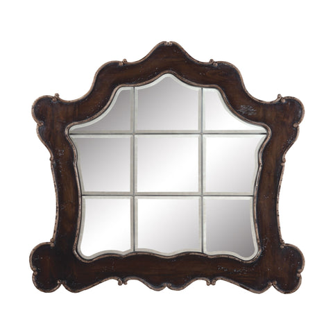Guildmaster GUI-102509 Heritage Collection Heritage Grey Stain,Textured Champagne Finish Mirror