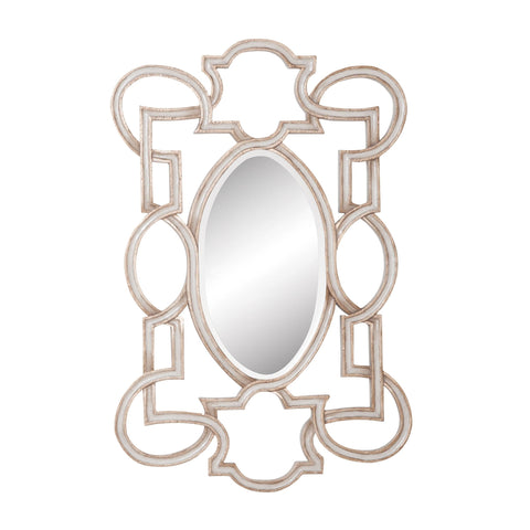 Guildmaster GUI-103003 Somerset Collection Soft Gold,Manor White Wash Finish Mirror