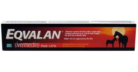 Merial 10309 Eqvalan [Ivermectin 1.87%] DeWormer For Horses, 0.21 oz [6.08g] Paste - Peazz.com