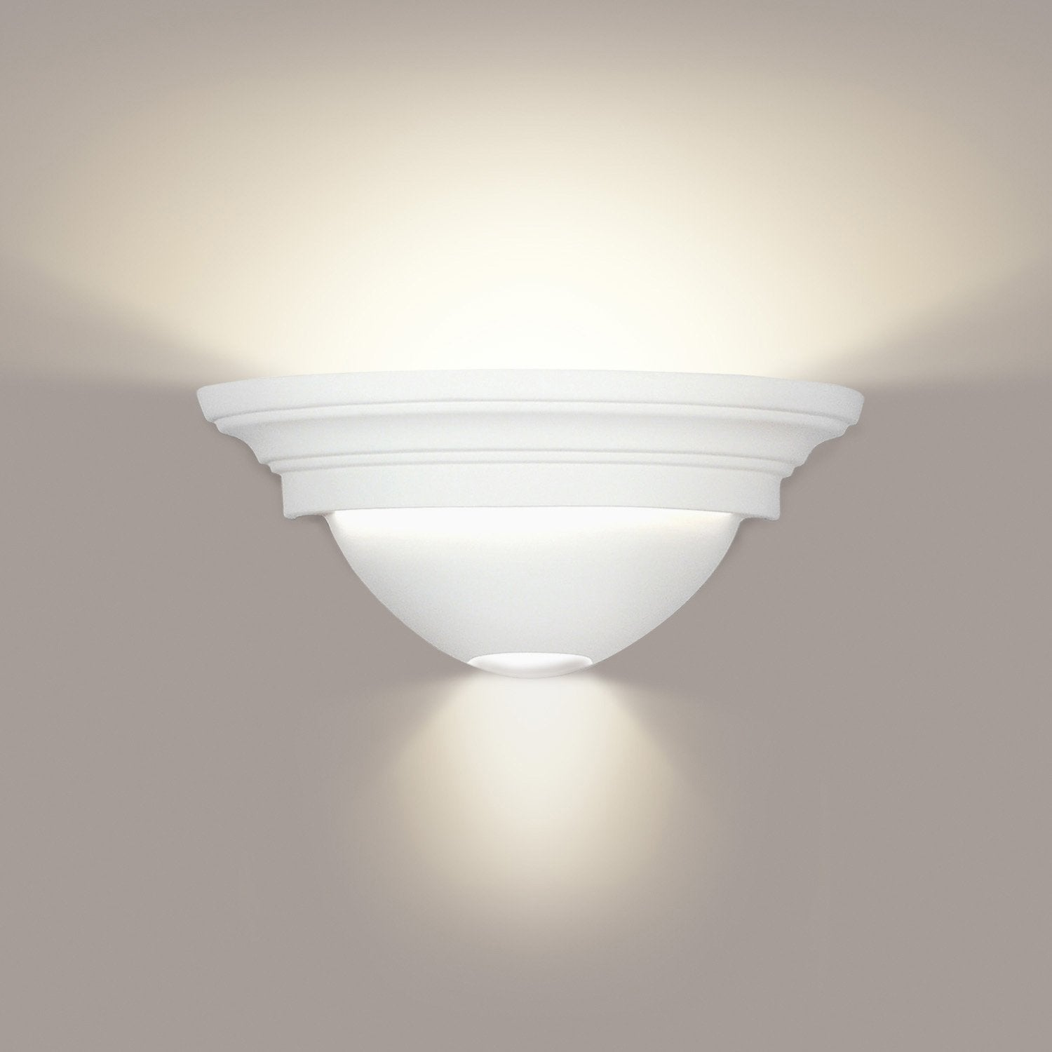 A19 103-LEDGU24-WC Islands of Light Collection Formentera/Ibiza White Crackle Finish Wall Sconce