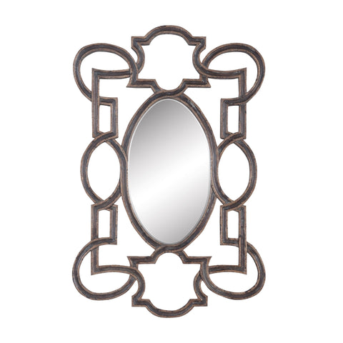 Guildmaster GUI-104004 Somerset Collection Heritage Grey Stain,Champagne Finish Mirror