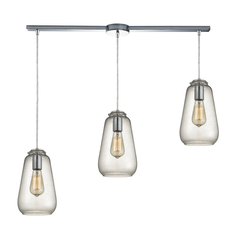 ELK Lighting 10423/3L Orbital Collection Polished Chrome Finish - PeazzLighting