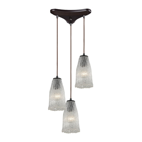 ELK Lighting 10437/3 Hand Formed Glass Collection Oil Rubbed Bronze Finish - PeazzLighting