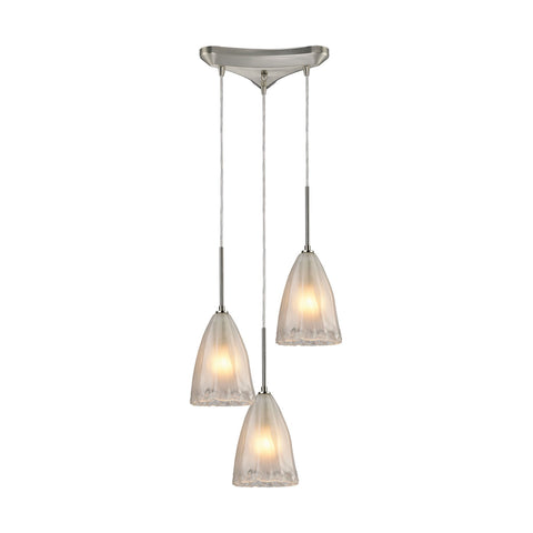 ELK Lighting 10449/3 Calipsa Collection Satin Nickel Finish - PeazzLighting