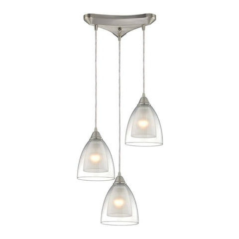 ELK Lighting 10464/3 Layers Collection Satin Nickel Finish - PeazzLighting
