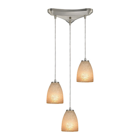 ELK Lighting 10476/3 Sandstorm Collection Satin Nickel Finish - PeazzLighting