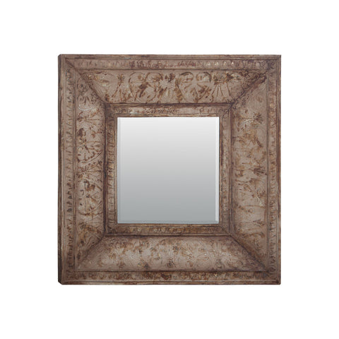 Guildmaster GUI-105012 Stamped Metal Collection Siganture Heavy Distressed Finish Mirror