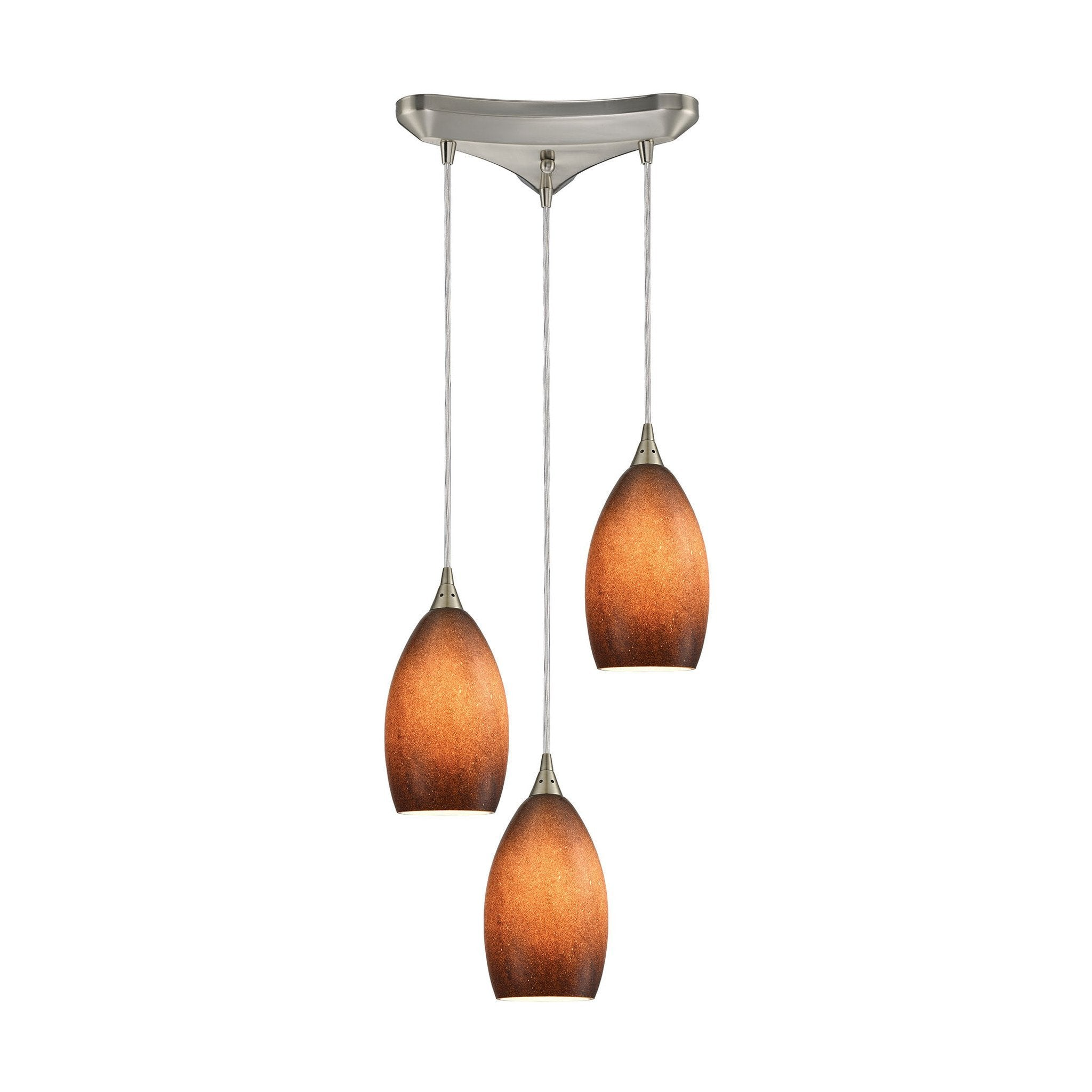 ELK Lighting 10510/3SND Earth Collection Satin Nickel Finish