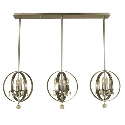 Framburg 1051-BN 12-Light Brushed Nickel Constellation Island Chandelier