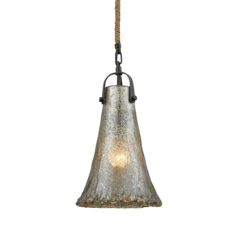 ELK Lighting 10651/1 Hand Formed Glass Collection Oil Rubbed Bronze Finish - PeazzLighting