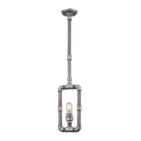 ELK Lighting 10687/1 Cast Iron Pipe Collection Weathered Zinc,Zinc Plating Finish - PeazzLighting
