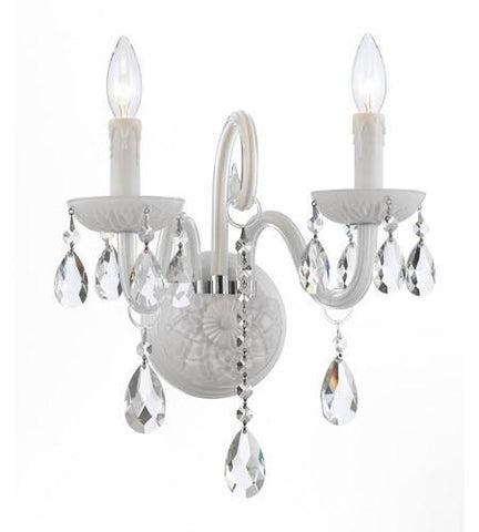 Crystorama 1072-WW-CL-S Envogue 2 Light Wet White Sconce - PeazzLighting