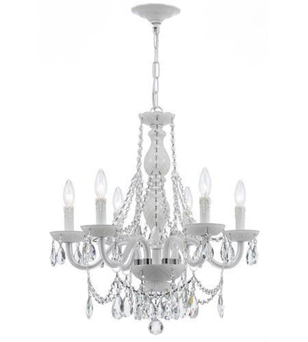 Crystorama 1076-WW-CL-SAQ Envogue 6 Light Wet White Chandelier - PeazzLighting