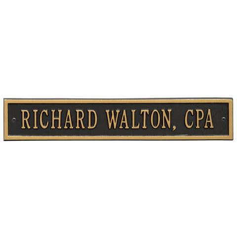 Arch Extension - Standard Wall - One Line - BG -  Black/Gold