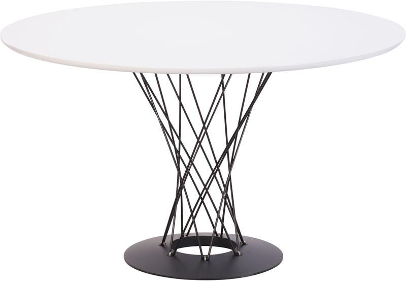 Table Dining Table Color White Painted Steel Spiral Photo