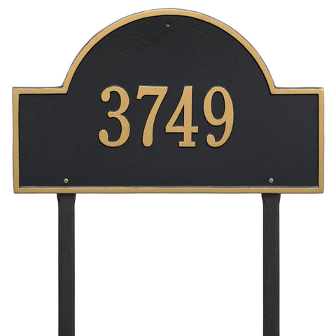 Arch Marker - Estate Lawn - One Line - BG -  Black/Gold