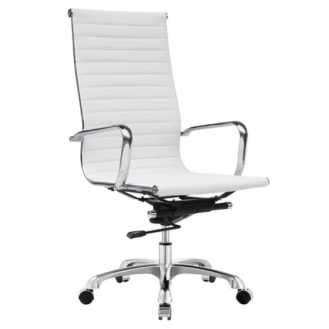 Fine Mod Imports FMI1161-white Modern Conference Office Chair High Back, White - Peazz.com - 1