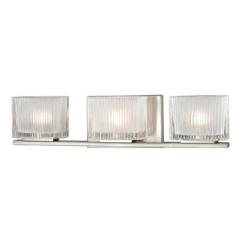 ELK Lighting 11632/3 Chiseled Glass Collection Brushed Nickel Finish - PeazzLighting