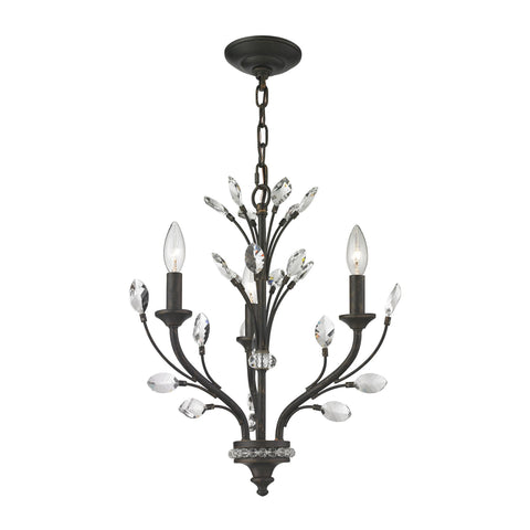 ELK Lighting 11774/3 Crystal Branches Collection Burnt Bronze Finish - PeazzLighting