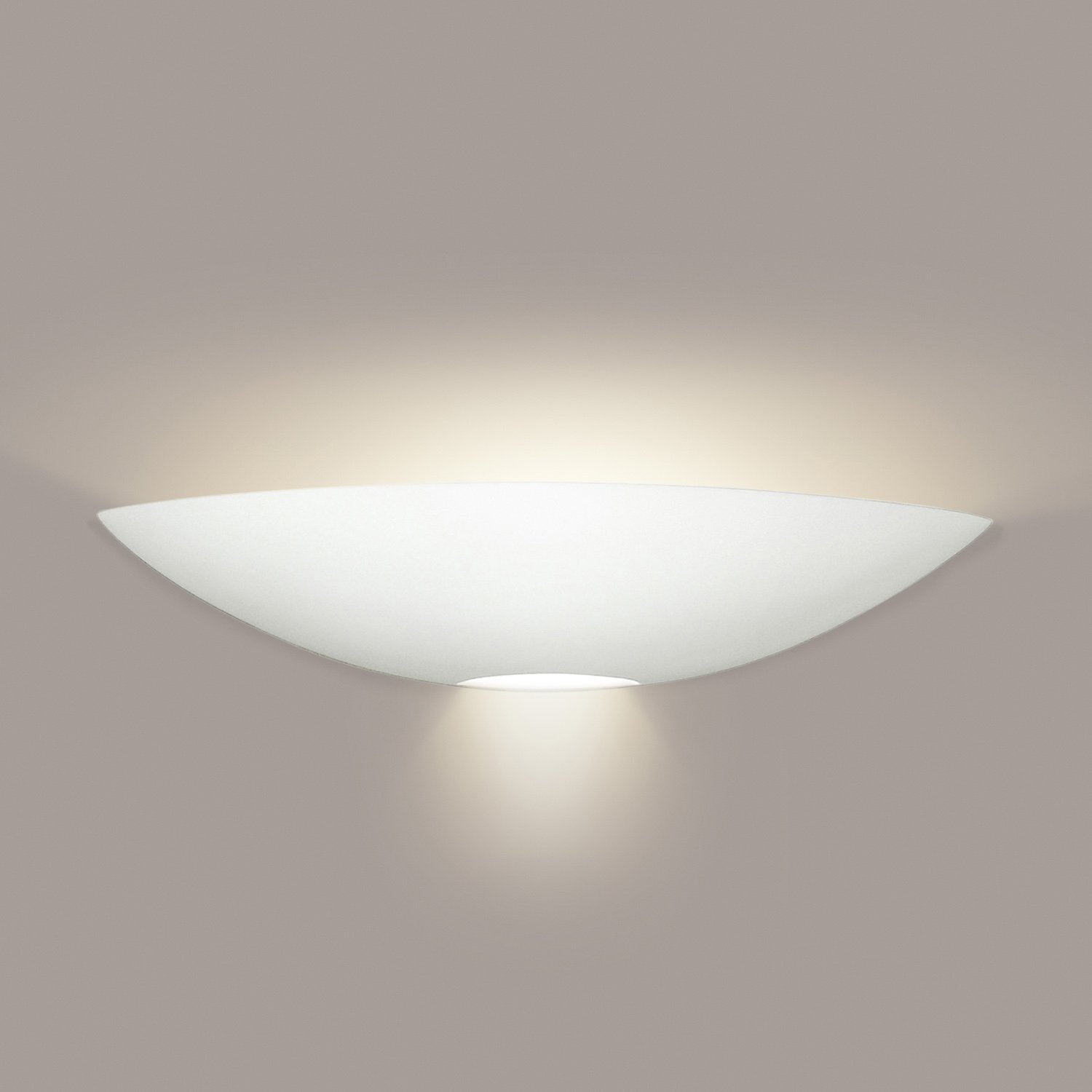 A19 1201-WET-LEDGU24-WG Islands of Light Collection Oahu White Gloss Finish Wall Sconce