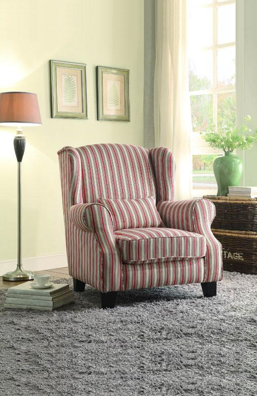 Verne Collection Color Bold Red Cream Strips La 3892 Product Photo