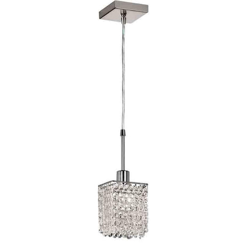 Dainolite 1279SQ-PC 1LT Square Crystal Mini Pendant