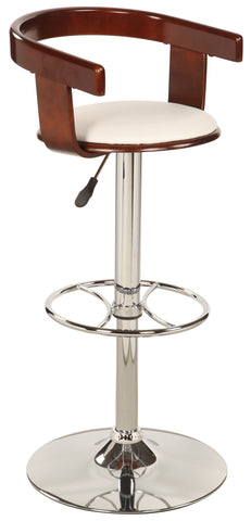 Chintaly 1331-AS-WHT Bentwood Pneumatic Swivel Stool