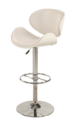 Chintaly 1376-AS-WHT Oversize Pneumatic Swivel Stool