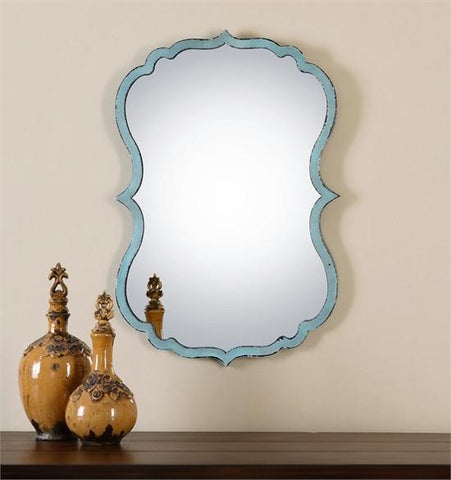 Uttermost Nicola Light Blue Mirror (13925) - UTMDirect