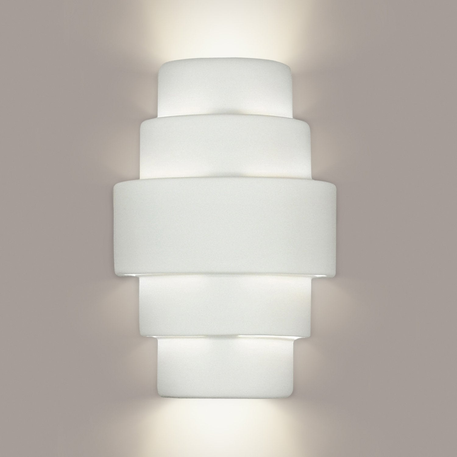 A19 1401-LEDGU24-M17 Islands of Light Collection San Marcos Royal Gold Satin Finish Wall Sconce