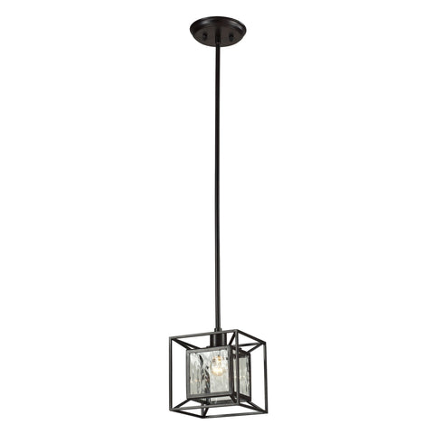 ELK Lighting 14121/1 Cubix Collection Oiled Bronze Finish - PeazzLighting