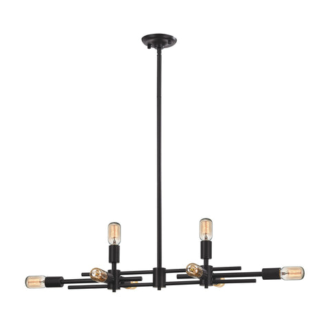 ELK Lighting 14252/4+4 Parallax Collection Oil Rubbed Bronze Finish - PeazzLighting