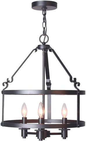 Woodbridge Lighting 15613TBK Revere 3-light Pendant Chandelier - Peazz.com