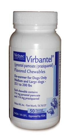 Virbantel Chewable Tablets For Medium/Large Dogs, Each Tablet - Peazz Pet