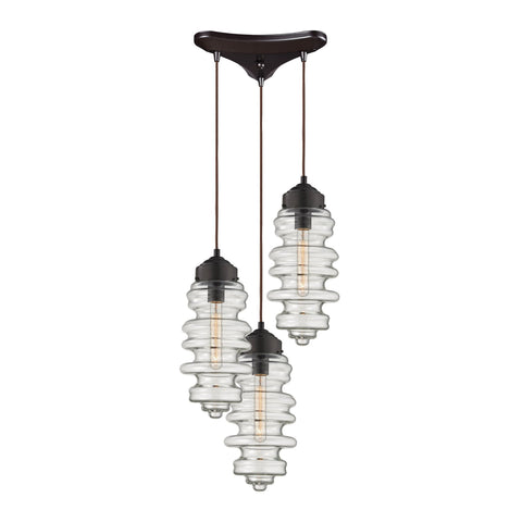 ELK Lighting 17205/3 Cipher Collection Oil Rubbed Bronze Finish - PeazzLighting