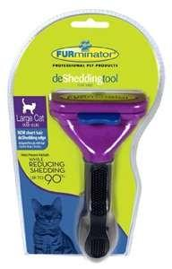 "Furminator 17313 FURminator deShedding Tool Large Cat Over 10 lbs, 2.65"" Long Hair"