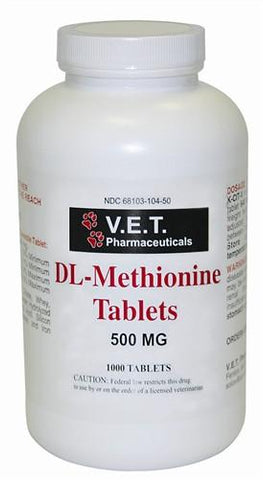 V.E.T 17324 DLMethionine 500mg, 1000 Tablets - Peazz.com