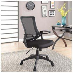 Linon 178326BLK01 Carlyle Black Office Chair