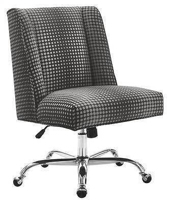 Bayden Hill 178404GDOT01U Draper Office Chair Gray Dot - Chrome Base