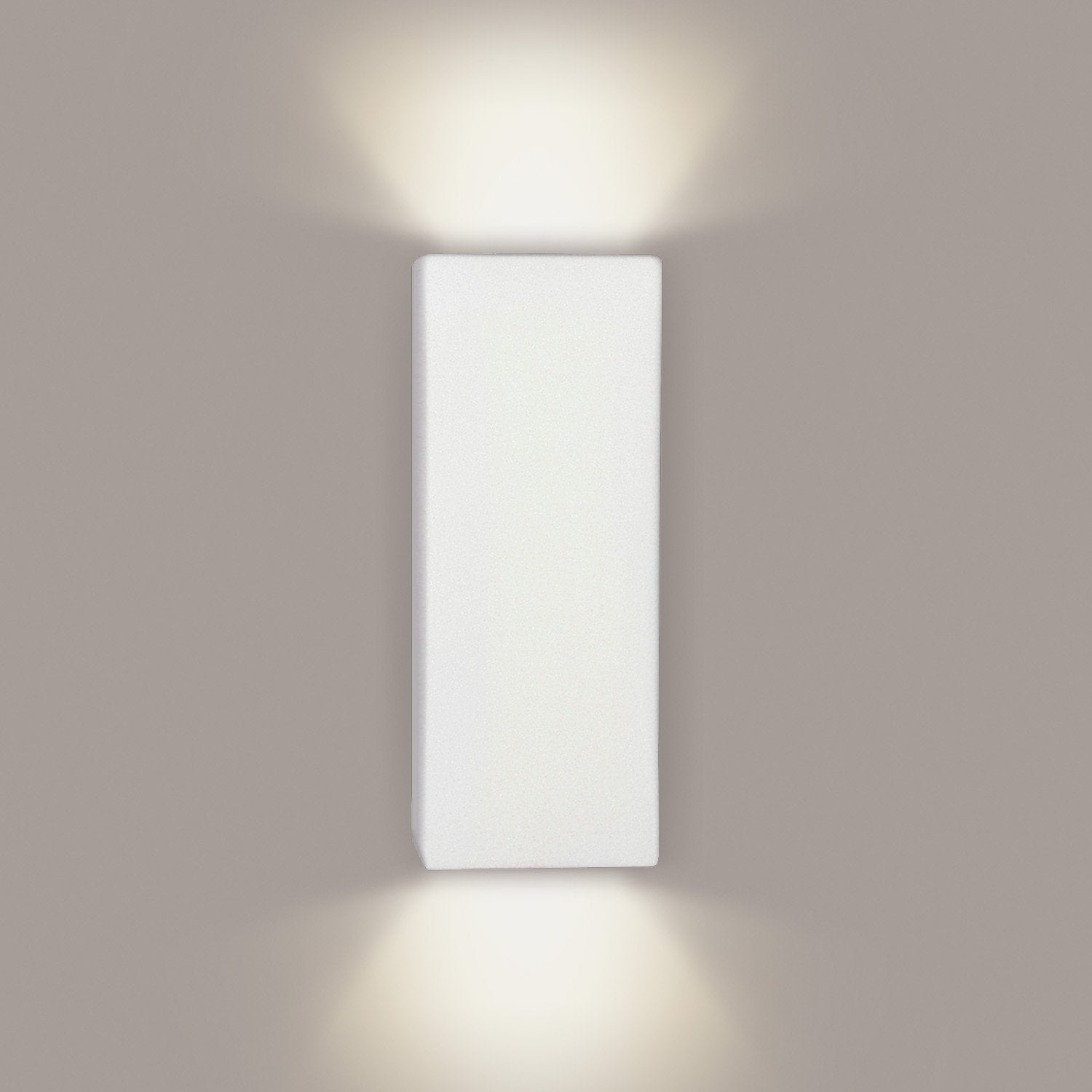 A19 1803-GU24-BT Islands of Light Collection Flores Butternut Finish Wall Sconce