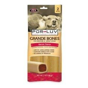 Sergeant's 18267 Pur Luv Grande Bones Bacon, 2 Pack - Peazz Pet