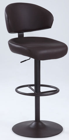 Chintaly 1874-AS-BRW Modern Oversized Pneumatic Stool