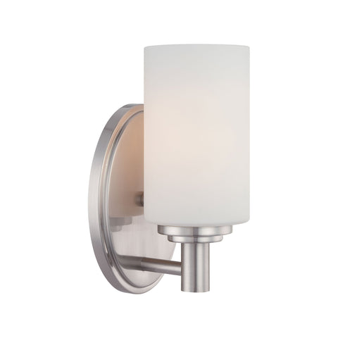 Thomas Lighting 190023217 Pittman Collection Brushed Nickel Finish Transitional Wall Sconce