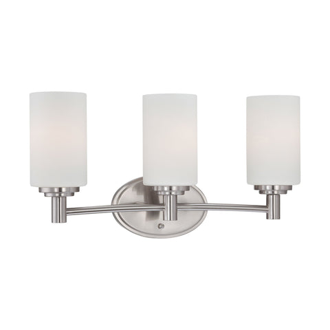 Thomas Lighting 190024217 Pittman Collection Brushed Nickel Finish Transitional Wall Sconce