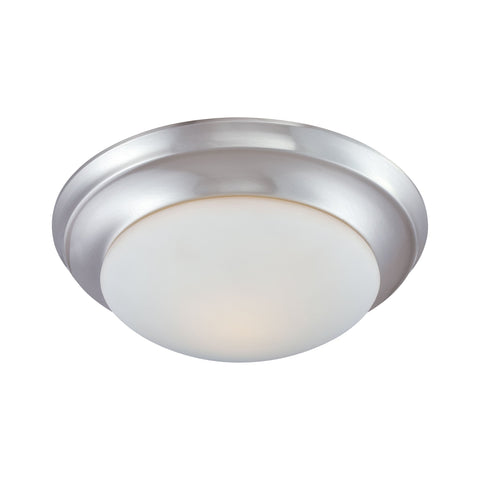 Thomas Lighting 190034217 Fluor Collection Brushed Nickel Finish Traditional Flush
